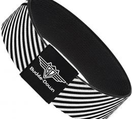 Buckle-Down Elastic Bracelet - Eighties 7 Black/White