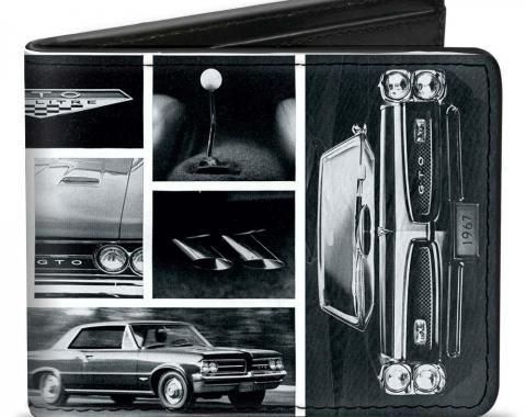 Bi-Fold Wallet - 1967 Pontiac GTO Snapshots White/Grays