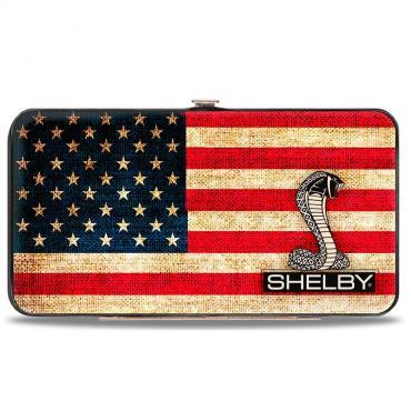 Hinged Wallet - SHELBY Tiffany Box Americana/Black/White
