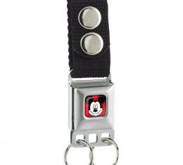 Keychain - Mickey Mouse Face Full Color Red