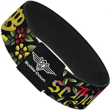 Buckle-Down Elastic Bracelet - Born to Raise Hell Black
