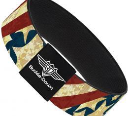 Buckle-Down Elastic Bracelet - Americana Diagonal Vintage Stars & Stripes2