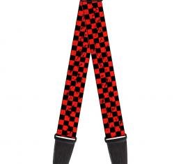 Guitar Strap - Checker Weathered Black/Red