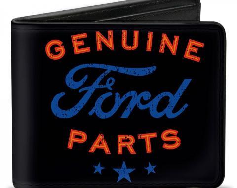 Bi-Fold Wallet - GENUINE FORD PARTS/Star Logo Black/Red/Blue