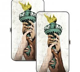 Hinged Wallet - Progress Liberty Torch Weathered