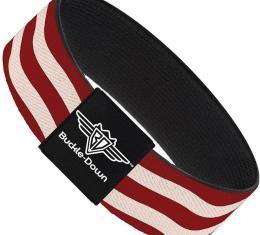 Buckle-Down Elastic Bracelet - Bacon Stripe