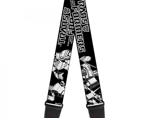Guitar Strap - TRANSFORMERS 7-Transformers Battle Poses Black/White