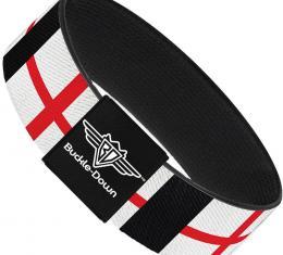 Buckle-Down Elastic Bracelet - England Flags
