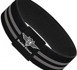 Buckle-Down Elastic Bracelet - Stripe Black/Gray