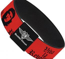 Buckle-Down Elastic Bracelet - Che Red/Black