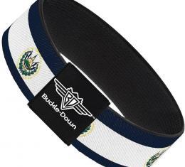 Buckle-Down Elastic Bracelet - El Salvador Flag