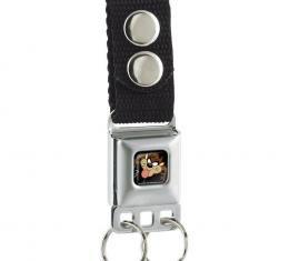Keychain - Taz Face Full Color Black