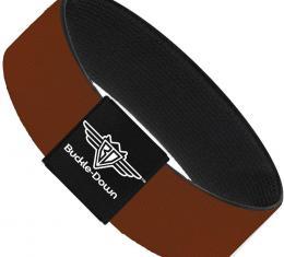 Buckle-Down Elastic Bracelet - Brown