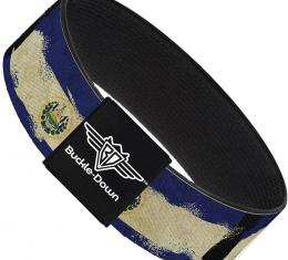 Buckle-Down Elastic Bracelet - El Salvador Flag Distressed Painting