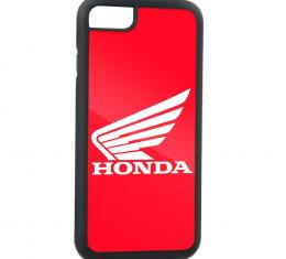 Rubber Cell Phone Case - BLACK - HONDA Motorcycle FCG Red/White