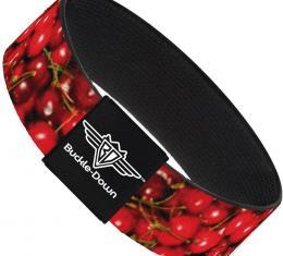 Buckle-Down Elastic Bracelet - Fresh Cherries Stacked