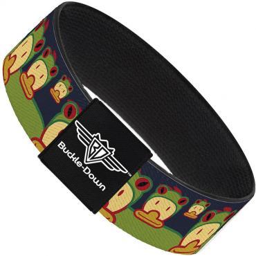 Buckle-Down Elastic Bracelet - Duck w/Frog Hat