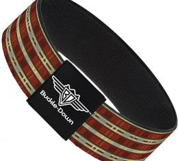 Buckle-Down Elastic Bracelet - Americana Plaid2