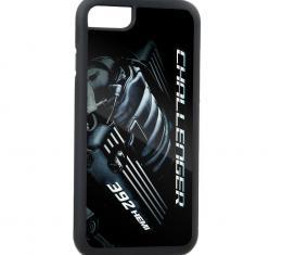 Rubber Cell Phone Case - BLACK - CHALLENGER Bold/392 HEMI Engine FCG