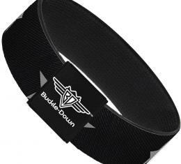 Buckle-Down Elastic Bracelet - Star Black/Silver