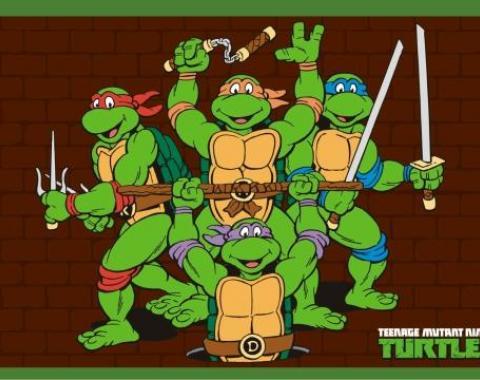Placemat - Classic Teenage Mutant Ninja Turtles Group Pose/Brick Wall