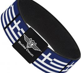 Buckle-Down Elastic Bracelet - Greece Flags