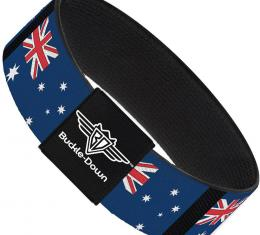 Buckle-Down Elastic Bracelet - Australia Flags