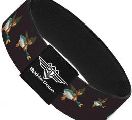 Buckle-Down Elastic Bracelet - Flying Mallards Burgundy