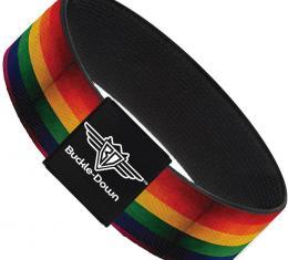 Buckle-Down Elastic Bracelet - Flag Pride Distressed Rainbow