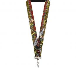 Buckle-Down Lanyard - Born to Raise Hell Red