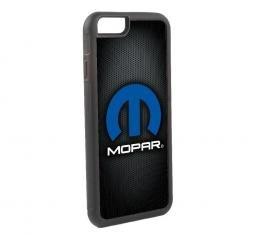 Rubber Cell Phone Case - BLACK - MOPAR Logo FCG Grays/Black/Blue/White