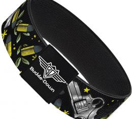 Buckle-Down Elastic Bracelet - Born to Raise Hell C/U Black