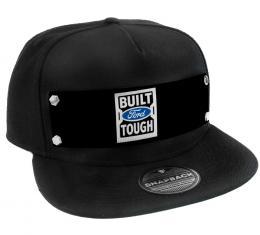 Embellishment Trucker Hat BLACK - BUILT FORD TOUGH Logo2 Black/White/Blue