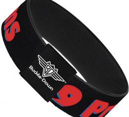 Buckle-Down Elastic Bracelet - 99 PROBLEMS Black/Red