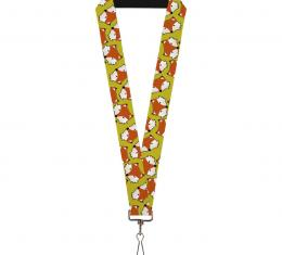 Buckle-Down Lanyard - Fox Face Scattered Warm Olive