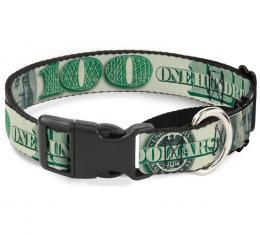 Plastic Martingale Collar - 100 Dollar Bill C/U/Triple Benjamin