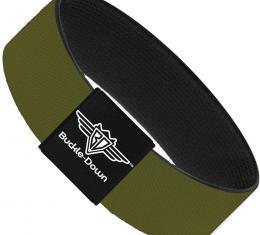 Buckle-Down Elastic Bracelet - Olive