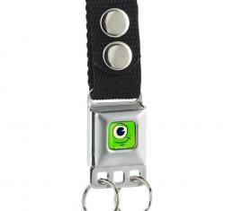 Keychain - Monster Mike's Face Full Color Green