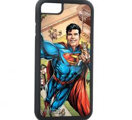 Rubber Cell Phone Case - BLACK - Action Comics Issue #34 Superman Flying w/Cat Selfie Variant Cover Pose FCG