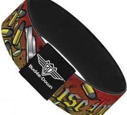 Buckle-Down Elastic Bracelet - Born to Raise Hell Red