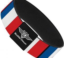 Buckle-Down Elastic Bracelet - France Flags