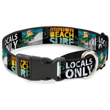 Plastic Martingale Collar - Surfing Minion MINION SURF BEACH/LOCALS ONLY