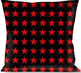 Buckle-Down Throw Pillow - Star Black/Red