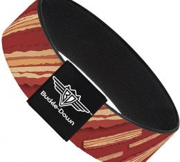Buckle-Down Elastic Bracelet - Bacon Slices Red