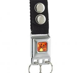 Keychain - Charmander Full Color Gray/Flame Red