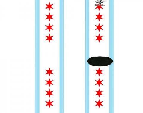 Sock Pair - Polyester - Chicago Flag - CREW