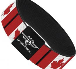 Buckle-Down Elastic Bracelet - Canada Flags
