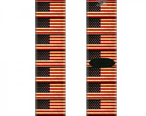 Sock Pair - Polyester - Vintage US Flag Repeat - CREW