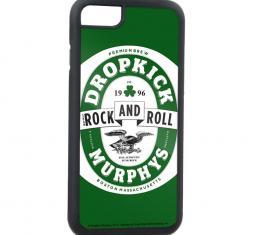 Rubber Cell Phone Case - BLACK - DROPKICK MURPHYS Label FCG Green/White