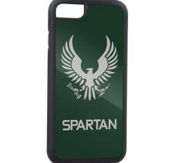 Rubber Cell Phone Case - BLACK - Halo Spartan-II Program Seal/Text FCG Olive/Gray